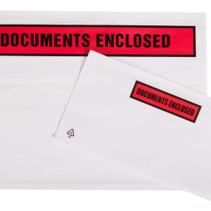 Tenzalopes Self Adhesive Document Enclosed Wallets A5 Printed