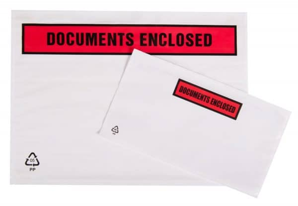 Tenzalopes Self Adhesive Document Enclosed Wallets A4 Printed