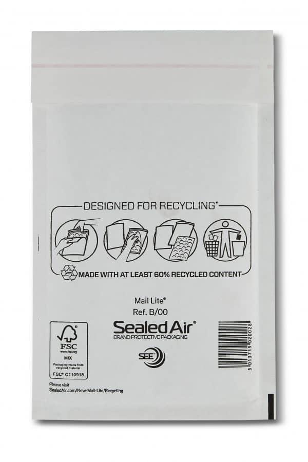 Mail Lite® White Padded Envelopes Size B/00