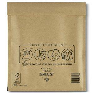 Mail Lite® Gold Padded Envelopes Size E/2