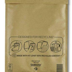 Mail Lite® Gold Padded Envelopes Size G/4