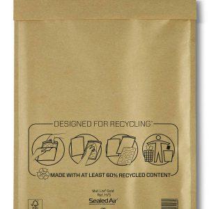 Mail Lite® Gold Padded Envelopes Size H/5