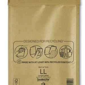 Mail Lite® Gold Padded Envelopes Size LL