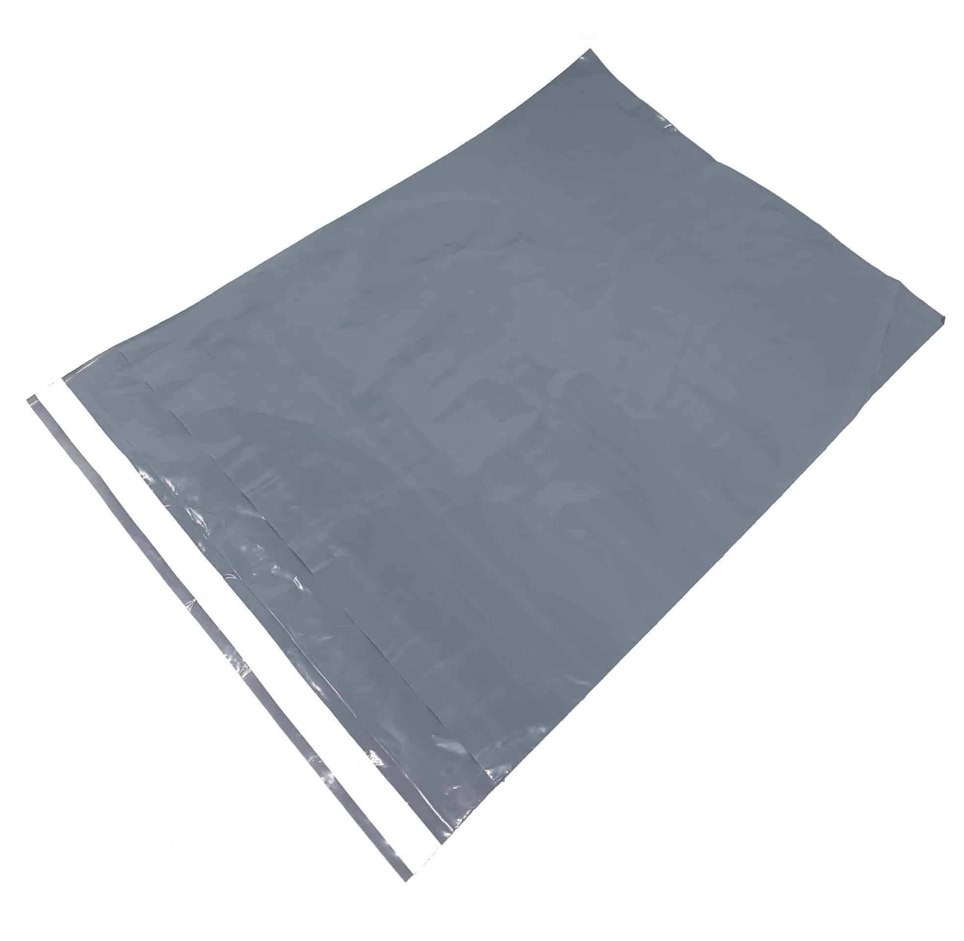 "Grey Plastic Mailing Bags 10"" x 14"""