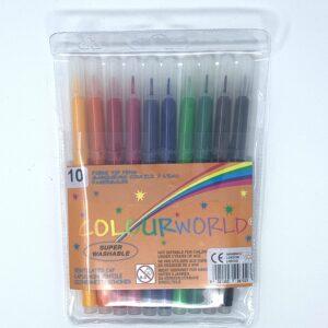 Colourworld Felt Tip Coluring Pens 10 Pack
