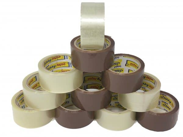 Stikky Tape clear and brown